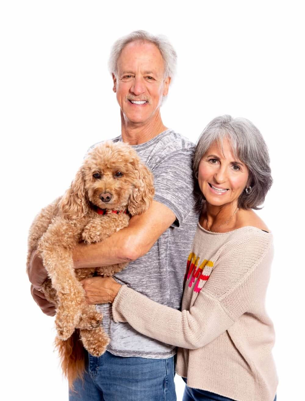 Wendy Ellin with her husband Marty and dog Ruby.